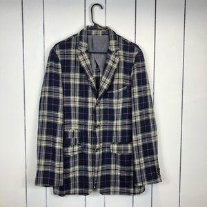Scott James Wool Plaid Blazer Jacket Sz M